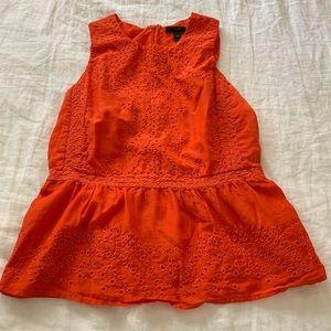 Beautiful Orange / Red JCREW Lace Top Sz 6T